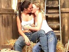 Farm Fantasy comes true with these lesbian hotties