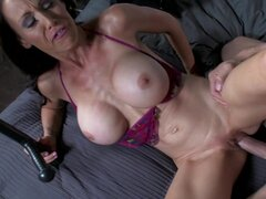 Johnny Sins fucks with slender brunette Mckenzie Lee