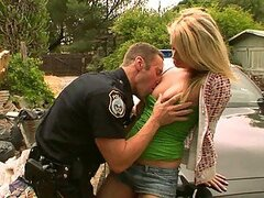 Pretty Blonde Girl Heather Starlet Fucks the Police