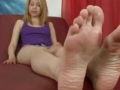 Mae Olsen Likes To Get Her Feet Worshipped