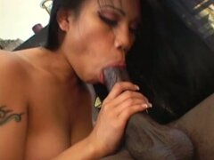 Tremendous slim black head Lucy Thai is nothing but a horny cock rider