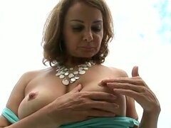 Lonely horny mom handles herself
