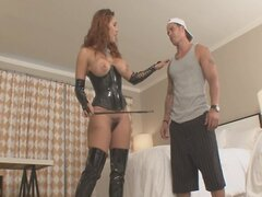 handjob by babe in boots