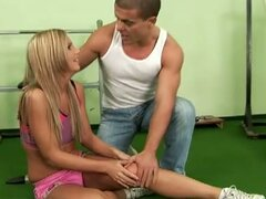 Hot Latino and sweet blonde's sexy feet