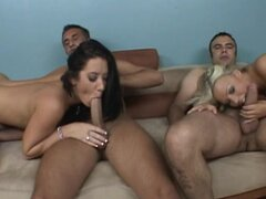 Young sluts in dirty foursome
