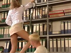 German very hot office sex