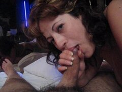 Amateur Greek Wife Big Tit Blowjob