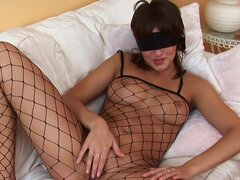 Hottie Lillike is fucking her naked puss