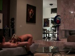 Cheating hot blondie gets caught on tape
