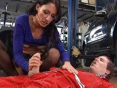 German Mechanic Gets Handjob