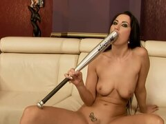 Carmen Rose & Her Hot Friend Play With A Baseball Bat