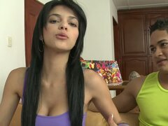 Luchy the pretty Latin girl gets pounded in POV video