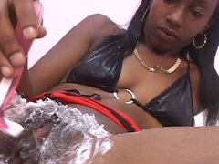 Shaved black pussy...