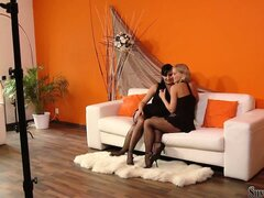 With Stacy Dasilva And Silvia stockinged feet have never looked so sexy