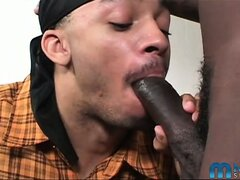 Blue Ice hooks up with Thugzilla for an awesome suck and fuck session. These two hot black studs are giving each other what they need big time! Don't miss this episode of His First Gay Sex and see how hot things get!