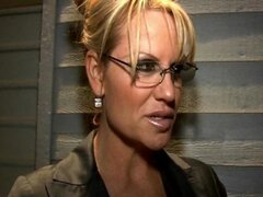 Kelly Madison and Kagney Linn Karter capture a stud for some intense interrogation