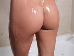 Sensual shower with stunning model
