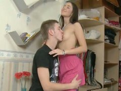 Horny young betty in deep throat action
