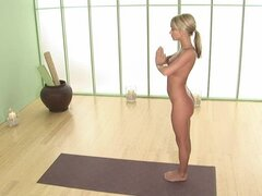 Sporty blonde Sara Underwood shows off her nice body
