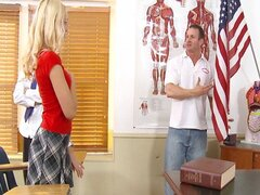 InnocentHigh Blonde student Erica Fontes classroom teen pussy hardcore sex