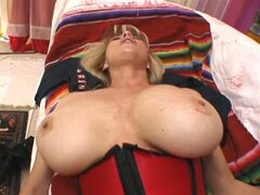 Busty blonde milf looks for a young stud to pound her pussy