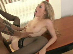 Stunning Michelle Moist having rough sex with Black guy