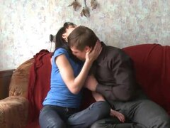 Russian cutie Inna being banged in her natural tits