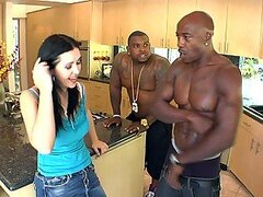 French Slut Gets DP'd By Two Black Monster Cocks