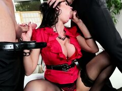 Hubby brings a friend home for his wife and she blows and rides the bone