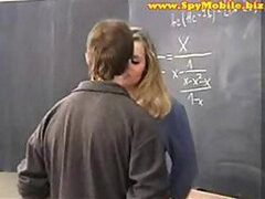 schoolgirl with Big tits seduced by old Teacher
