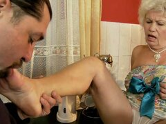Blonde Granny Becomes a Mature Temptation to This Horny Cock