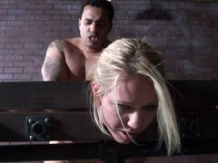 Sadomazo BDSM sex show with Ashley Winters and monster cock