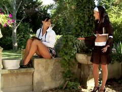 Linet is spanking alluring ass of Victoria Blaze