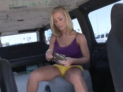 Attractive teasing slits Ashlynn Leigh and John Strong with great looking bodies and massive juicy knockers in arousing outfit have a lot of fun driving in notorious bang bus.