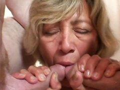 Granny wants both hard dicks