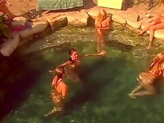 Sexy Playboy models having great swim party...