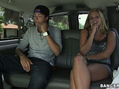 Hot blonde goes for a ride with a dude that wants to fuck her cunt