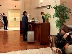 Mio Kitagawa the Hotel Worker Sucks A Customer's cock
