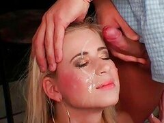 Blonde Slut Pissed On