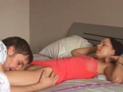 You can see super sweet movie with He woke me up with a cock in my bottom