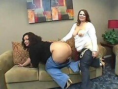 Cum Swapping BBW Queens Fuck a Guy In Hot FFM Threesome