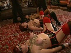 Bondage Babes Get Punished On the Ground