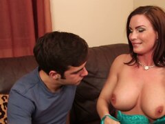 Horny mom Diamond Foxxx seduces and fucks her son's friend