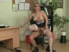 Young man fucks mature secretary